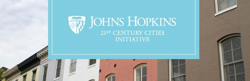Logo with row homes